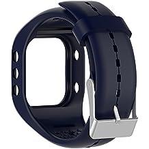 Silicona reloj banda correa de repuesto Flexible longitud ajustable pulsera Fitness para Polar A300reloj inteligente, Sapphire