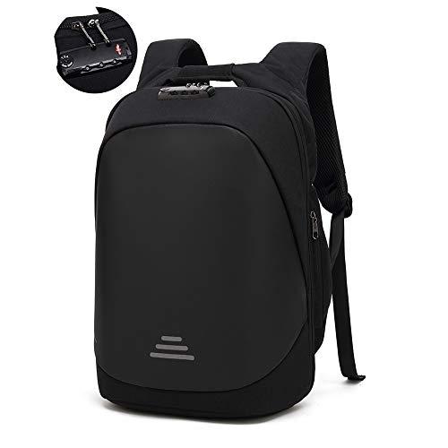 Business Laptop Rucksack Wasserdichte Anti Diebstahl Backpack 17,3 Zoll mit TSA-Schloss USB Ladeanschluss College Daypack Outdoor Reise Tasche für Männer Frauen Damen Herren - Schwarz