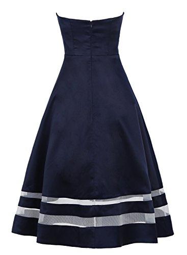 Bbonlinedress Robe de Soirée et Cérémonie de bandeau A-Line sans bretelle sans manches en satin Gris