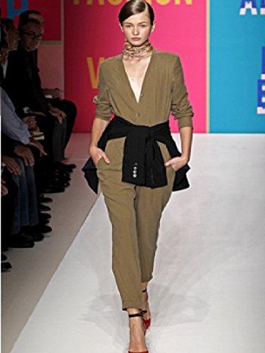 holidaysuitcase -Damen Damen Sexy leicht Overall Khaki oder Regentropfen Größe 8-18 UK Khaki