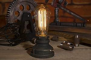YUENSLIGHTING E27 Vintage Wood Blocks Table Lamp Desk Light for Cafe Bar Studio Night Light for Bedside Dimmable Without Bulb Art from YUENSLIGHTING