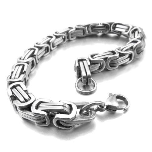 munkimix-acciaio-inossidabile-bracciali-bracciale-braccialetto-polso-collegamento-tono-argento-bizan