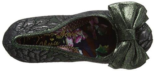 Irregular ChoiceMal E Bow - Scarpe con Tacco donna Green (Green/Black)