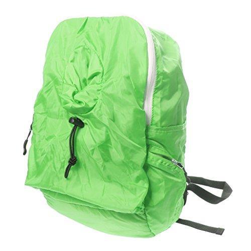 Borsa Da Viaggio Zaino Zainetto Leggero Campeggio Trekking Uomini Donne - Blu Scuro Verde