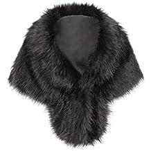 iBaste 2017 nouvelles femmes fourrure poncho automne hiver sexy moderne réchauffement cape fourrure châle écharpe col fourrure Pashmina