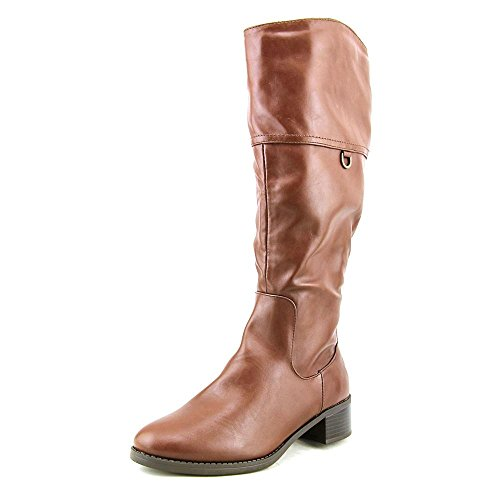 Easy Street Scotsdale Wide Calf Femmes Synthétique Botte brown