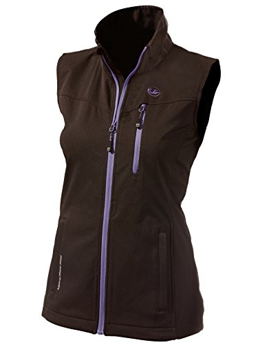 Ultrasport Damen Softshell Weste Athina, black purple, L, 10104