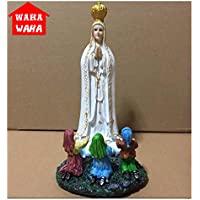 Placehap Fatima de la Iglesia Católica Europea de la Diosa aparece a los Tres pastores Escultura