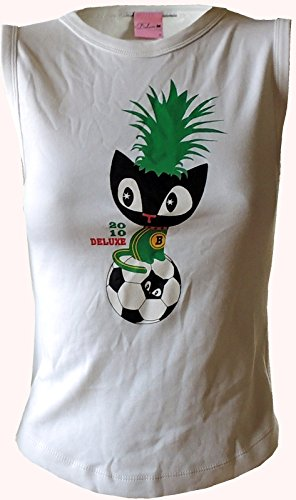 Pussy Deluxe Top Weltmeisterschaft Fussball Brasil Top Weiß