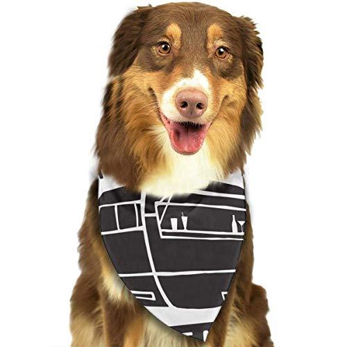 Fashion Dog Bandana Haustierzubehör Easy Wash Scarf ()