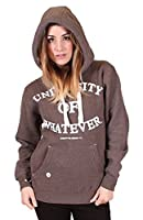 University of Whatever Women's University Hoody Sweater Athletic Huddy W89 Unest Graphite Large