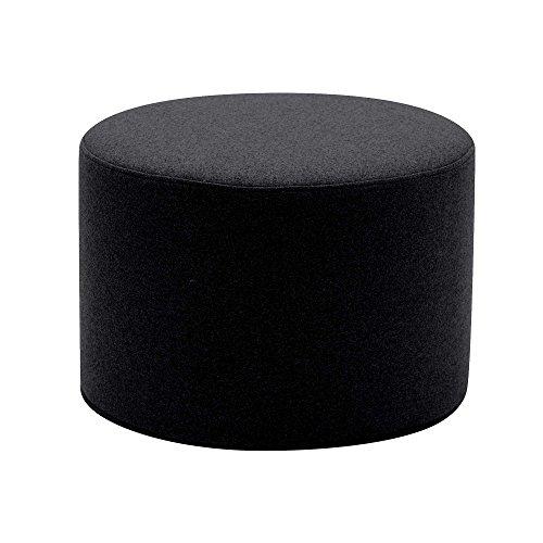 Softline Drum Hocker/Beistelltisch S, schwarz Stoff Felt 636 H 30cm Ø 45cm