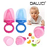 #5: DALUCI Soft Nipple Bite Gags Mesh Dummies Baby Soother Nipples Feeding Tool Pacifier