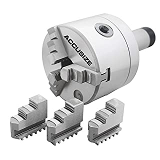 Accusize Tools - 4'' (100 mm) 5C Precision Lathe Chuck 3-Jaw Selfcentering Scroll, 0225-0234