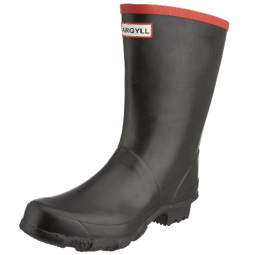 Hunter Men's Argyll Short Knee Wellies Black W23111 8 UK