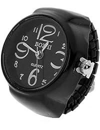 Xiaofeng214 Día Accesorios Reloj Reloj Suena for la joyería de Las Mujeres Anillo de los Hombres del Reloj de Cuarzo electrónico Encanto del Dedo anular de Dropshipping (Main Stone Color : 02)