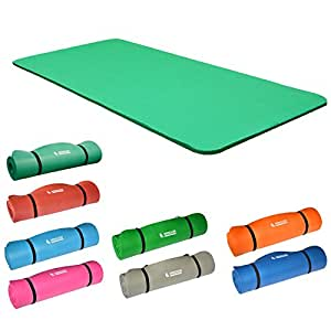 Hansson.Sports NBR Fitness Yoga Pilates Gymnastikmatte 183x80x1,5cm - grün