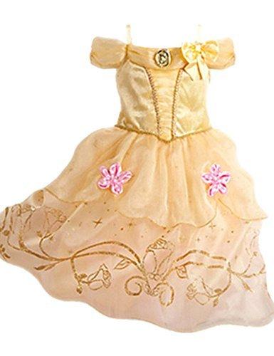 Kleid Grimms Märchen Kostüm Cosplay Mädchen Halloween Kostüm Cinderella#3, Gr.140 (Cinderella Kostüm Mädchen)
