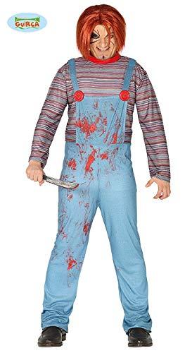 �m Assassina Chuckie Adult, Blau / Rot, L, 88366 ()