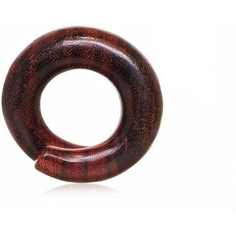 8mm–0ga organicnatural sono legno a spirale per orecchio barella