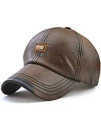 Wicemoon Gorra de Béisbol para Hombre Sombrero de Cuero Suave de PU Sombrero  Deportivo Al Aire 3181f8510d0