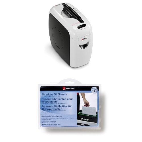 Rexel Style Aktenvernichter, 6 (70g/m²) Blatt Kapazität + Schmiermittelblätter - Set