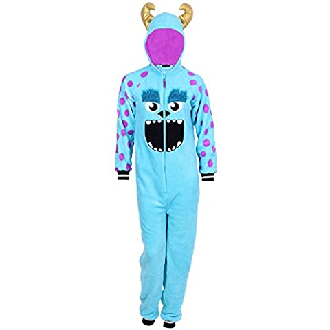 Disney PIXAR, SULLEY aus MONSTER UNI, Ganzkörper Schlafanzug, Einteiler, Pyjama - 36-38 / UK 10-12 / EU 38-40