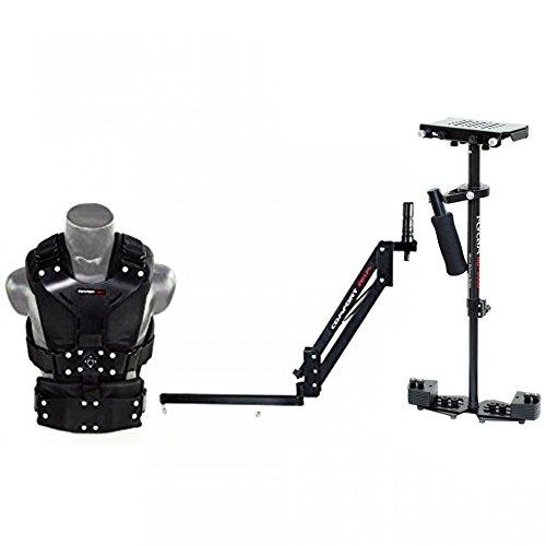Flycam HD-3000Kamera Steadycam Stabilisator System mit Comfort Arm und Weste für DSLR Video Camcorder bis 3,5kg/7.7lb | frei Unico Quick Release & Tischklemme + Tragetasche (cmft-hd3)