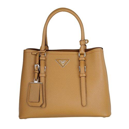 Prada-Saffiano-Cuir-Leather-Handbag-Caramel