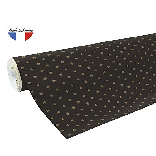 Clairefontaine 201339C Rolle Geschenkpapier Alliance, große Breite, 50 x 0,70m, 60g, ideal für Ihre Geschenke, 1 Stück, Gold