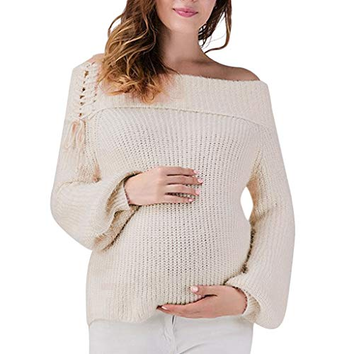 Mutterschaft Umstandshirt Stillzeit Bekleifung, Malloom Baby Frauen Mutterschaft Schwangerschaft Strickpullover Tops Lace Up Wrap Strickpullover