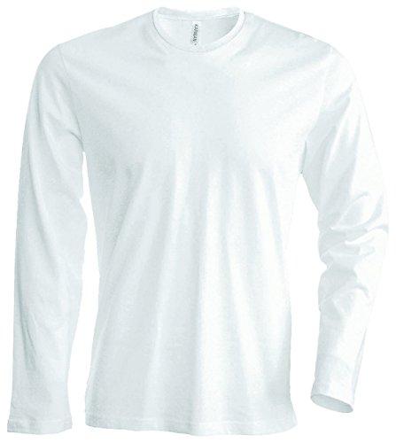 Herren T-Shirt langarm von notrash2003 (XXL, Weiß) (- Shirt)