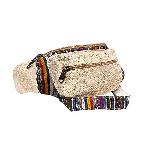 corehemp Fanny Pack Taille Hip Bag Handgefertigt aus Pure Hanf One_Size Klassisch -