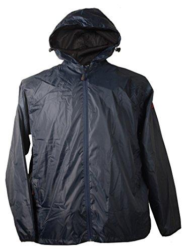 Leichte Regenjacke in Herrenübergröße bis 12XL, blau, Größe:8XL