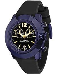 Glam Rock Unisex SoBe 44mm schwarz Silikon Band IP Stahl Fall Swiss Quarz analoge Uhr gr32172s