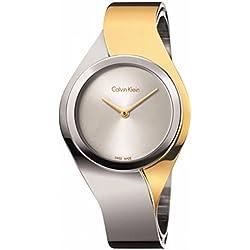 Calvin Klein Reloj Analogico para Mujer de Cuarzo con Correa en Acero Inoxidable K5N2S1Y6