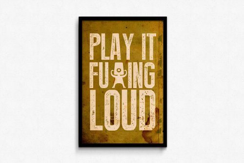 Seven Rays Play It Loud Framed (Without Glass) Poster  available at amazon for Rs.799