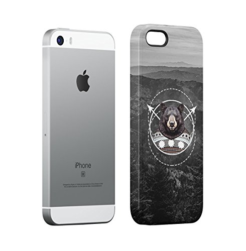 Brown Bear With Sweater Hills Cover Apple iPhone 5 , iPhone 5S , iPhone SE Snap-On Hard Plastic Protective Shell Case Cover Custodia Brown Bear