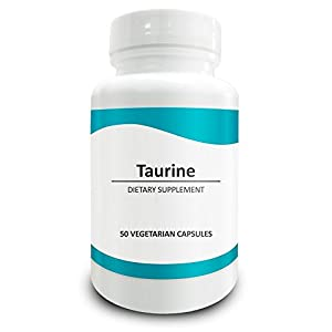 41lDpst284L. SS300  - Pure Science Taurine 1000mg -Taurine Supplement Improves Cardiovascular Health, Regulates Blood Sugar Level & Mood - 50 Vegetarian Capsules of Taurine Powder