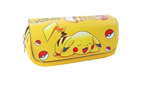 Image of Pencil Case school two compartments Pokemon Pikachu