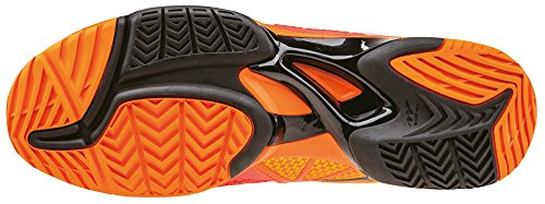 Mizuno Wave Exceed Tour Ac, Chaussures de Tennis Homme Orange - Arancione (Vibrantorange/Black/Spectrayellow)