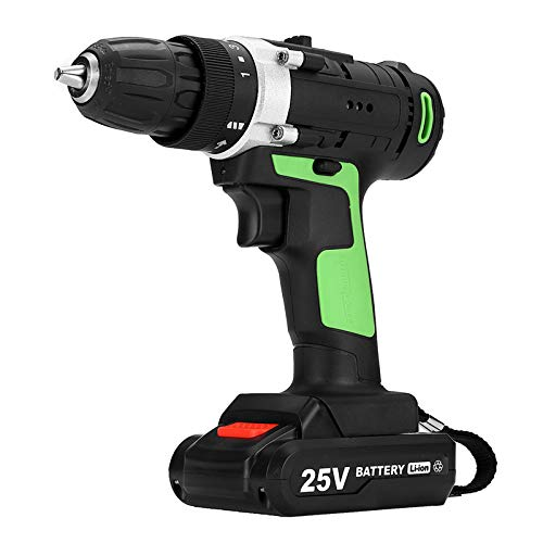 ExcLent 25V 2 Speed Cordless Lithium Electric Screwdriver 15 Gear Rechargeable Power Drills 1500Mah Driver Drill 1350Rpm - Variable Speed Cordless Drill