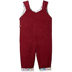 Donuts Baby Girls' Regular Fit Cotton Dungaree (273078612_Pink_18M)