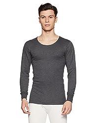 Jockey Mens Cotton Vest (2401-0105-CHAML Charcoal Melange S)