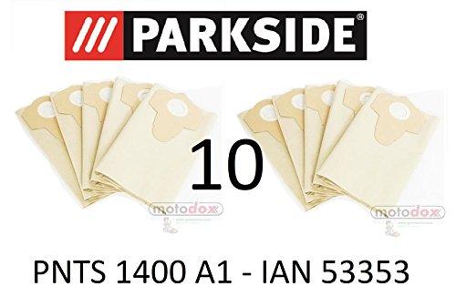 10 Parkside Staubsaugerbeutel 30 L PNTS 1400 A1 Lidl IAN 53353 braun 906-02 - Parkside Nass Trocken Sauger