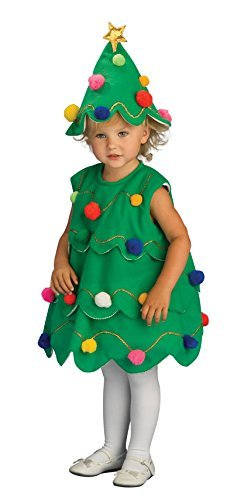 Fancydresswale Christmas Tree Dress for Kids, X-MAS Costume, Green (3-7 Years)