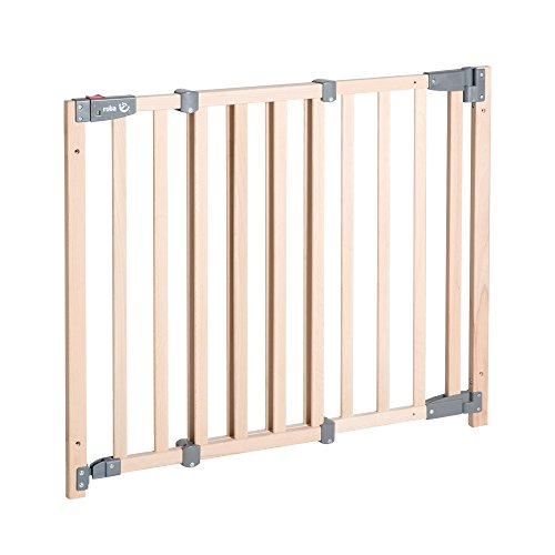 roba Türschutzgitter Safety Up, barrierefreies Holz-Schutzgitter mit Ampelfunktion für Tür und...