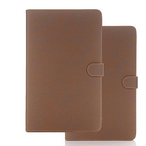 10,1 Inch Galaxy Tab A Schutzhülle, TechCode Premium Leder Tasche Hülle Wallet Stand Card Slot Etui Holder Stand mit Auto Wake / Sleep Funktion für Samsung Galaxy Tab A 10.1 Zoll SM-T580N/SM-T585N