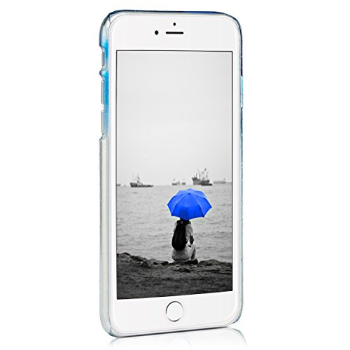 iPhone 6 6S (4,7 Zoll) dünne Hard-Case Hülle | Cover | Schutzhülle | Backcover | in matt Design | Weiss für iPhone6 iPhone6S | - Naruba Media (Hard Case Weiss) Regen Hardcase Blau
