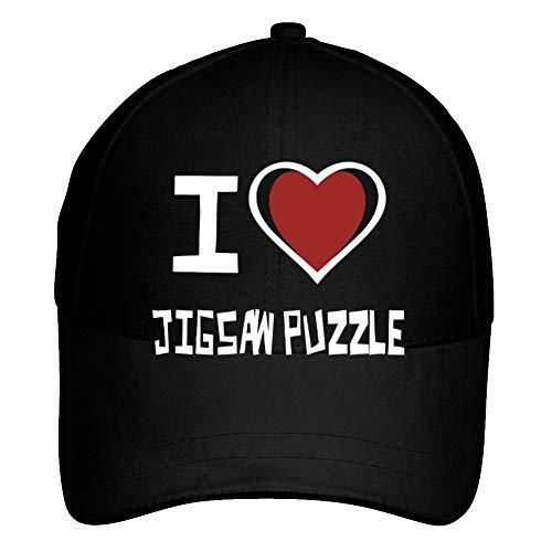Idakoos I Love Jigsaw Puzzle Bicolor Heart - Ocio - Gorra De Béisbol